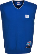 Football Collectibles:Uniforms, 2008 Tom Coughlin Game Worn New York Giants Super Bowl XLII Sweater Vest. ...
