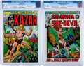 Bronze Age (1970-1979):Miscellaneous, Shanna the She-Devil #1/Ka-Zar #1 CGC-Graded Group (Marvel,1972-74).... (Total: 2 Comic Books)