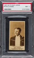 Baseball Cards:Singles (Pre-1930), 1887 N172 Old Judge John Ward (#478-1) PSA NM 7 With ExceptionalPortrait. ...