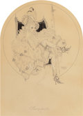 Pin-up and Glamour Art, Alberto Vargas (American, 1896-1982). Marquisette, 1918. Penand ink on paper. 22 x 15 in. (sheet). Signed and dated low...