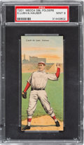 Baseball Cards:Singles (Pre-1930), 1911 T201 Mecca Double Folders Lush/Hauser PSA Mint 9 - Pop One,Highest Graded Example! ...
