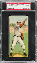 Baseball Cards:Singles (Pre-1930), 1911 T201 Mecca Double Folders Downs/Odwell PSA Mint 9 - Pop One,Highest Graded Example! ...