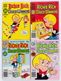 Bronze Age (1970-1979):Cartoon Character, Richie Rich Digest Winners File Copy Long Box Group (Harvey,1977-82) Condition: Average NM-....