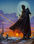 Pulp, Pulp-like, Digests, and Paperback Art, Don Maitz (American, b. 1953). Book of the New Sun, bookcover, 1998. Oil on masonite. 26 x 19.75 in.. Signed at bot...