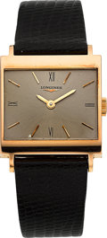 Timepieces:Wristwatch, Longines 18k Pink Gold Wristwatch. ...
