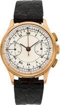 Timepieces:Wristwatch, Swiss 18k Rose Gold Chronograph. ...