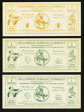 Obsoletes By State:Ohio, Lewisburg, OH- Halloween Carnival Currency $1; $1; $1 Oct. 31,1912; 13; 23. ... (Total: 3 notes)