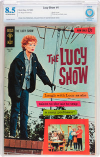 The Lucy Show #1 (Gold Key, 1963) CBCS VF+ 8.5 Off-white to white pages