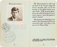John F. Kennedy: His 1951 U.S. Passport, Issued to Him as a Congressman