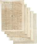 Miscellaneous:Newspaper, [Confederate States]. Newspaper: Five Issues of the Tri-WeeklyGuardian. ...