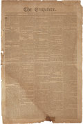 Miscellaneous:Newspaper, [Battle of New Orleans]. Newspaper: The Enquirer....