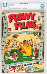 Funny Films #1 (ACG, 1949) CBCS VG- 3.5 Off-white to white pages