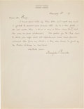 Autographs:Artists, Maxfield Parrish Autograph Letter Signed....
