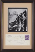Autographs:Military Figures, George S. Patton Twice Signed Envelope....