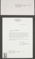 Autographs:U.S. Presidents, Dwight D. Eisenhower Typed Letter Signed. ...