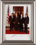 Autographs:U.S. Presidents, Photograph of Four United States Presidents, Signed by Three....