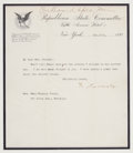 Autographs:U.S. Presidents, Theodore Roosevelt Typed Letter Signed. ...