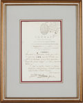 Autographs:Non-American, Nicolas L. Sadi Carnot Document Signed. ...