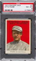 Baseball Cards:Singles (Pre-1930), 1914 Cracker Jack Otto Knabe #1 PSA NM-MT 8 - Pop One, The HighestGraded Example! ...