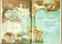 Thornton Wilder, playwright. Robert J. Lee, illustrator. SIGNED/LIMITED. Our Town. A