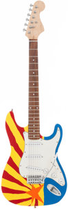 Musical Instruments:Electric Guitars, Stratocaster Copy Handcrafted Guitar featuring art inspired by theArizona Flag Art on the front and back | Proceeds from...