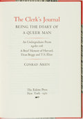 Books:Biography & Memoir, Conrad Aiken. SIGNED/LIMITED. The Clerk's Journal: Being theDiary of a Queer Man. New York: The Eakins Press, 1...