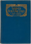 Books:Biography & Memoir, Major General James G. Harbord. Leaves from a War Diary. NewYork: Dodd, Mead & Company, 1931....