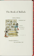 Books:Literature Pre-1900, Fritz Kredel, illustrator. SIGNED/LIMITED. MacEdward Leach, editor.The Book of Ballads. The Limited Editions Club, ...
