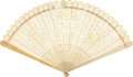Antiques:Decorative Americana, Colonial America: Circa 1790 Exquisitely Detailed Folding Fan....