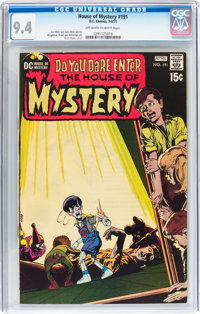 House of Mystery #191 (DC, 1971) CGC NM 9.4 Off-white to white pages