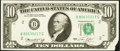 Error Notes:Foldovers, Fr. 2022-B $10 1974 Federal Reserve Note. Choice CrispUncirculated.. ...