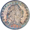 Early Half Dimes, 1795 H10C V-4a, LM-10, R.3, MS64 PCGS. CAC....