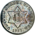 Three Cent Silver, 1851-O 3CS MS66 ANACS....
