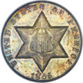Three Cent Silver, 1865 3CS MS66 PCGS. CAC....