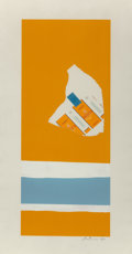 , Robert Motherwell (American, 1915-1991). Harvest, with Two WhiteStripes (from the Summer Light series), 1973. Litho...