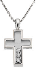 Estate Jewelry:Necklaces, Diamond, White Gold Pendant-Necklace, Chopard. ...