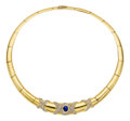 Estate Jewelry:Necklaces, Sapphire, Diamond, Gold Necklace, H. Stern. ...