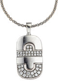Estate Jewelry:Necklaces, Diamond, White Gold Pendant-Necklace, Bvlgari . ...