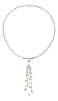 Estate Jewelry:Necklaces, Diamond, White Gold Pendant-Necklace, Chanel. ...