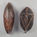 Tribal Art, Two Masks, Papua New Guinea ... (Total: 2 Items)