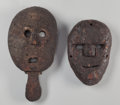 Tribal Art, Two Masks, Indonesia... (Total: 2 Items)