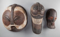 Tribal Art, Three African Masks... (Total: 3 Items)
