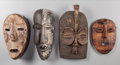 Tribal Art, Four African Masks... (Total: 4 Items)