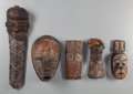 Tribal Art, Five African Masks... (Total: 5 Items)