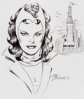 Original Comic Art:Sketches, Joe Sinnott - Scarlet Witch Sketch Original Art (2005)....