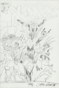 Original Comic Art:Miscellaneous, John Romita Jr. X-Men Preliminary Cover Original Art (Marvel, 1980s)....