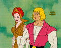 Animation Art:Production Cel, He-Man and the Masters of the Universe Prince Adam and TeelaProduction Cel Setup (Filmation, 1984).... (Total: 2 Items)