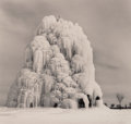 Photographs, Michael Kenna (British/American, b. 1953). Frozen Fountain, Belle Isle, Detroit, Michigan, 1994. Toned gelatin silver. 7...