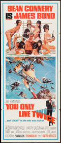 """Movie Posters:James Bond, You Only Live Twice (United Artists, 1967). Trimmed Insert (14"""" X 33.25""""). James Bond.. ..."""