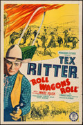 """Movie Posters:Western, Roll Wagons Roll (Monogram, 1940). One Sheet (27"""" X 41""""). Western.. ..."""